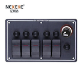5P Aluminum Horizontal Breaker switch panel with Cigarette