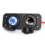 Caravan Marine 12V USB Plug and Socket Flush Mount
