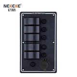 5P Aluminum Vertical Fuse switch panel with USB socket