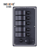 5P Aluminum Vertical Breakers Switch Panel wich Power Socket