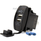 12-24V E-Mark Switch Style Car Dual USB Socket Outlet USB socket