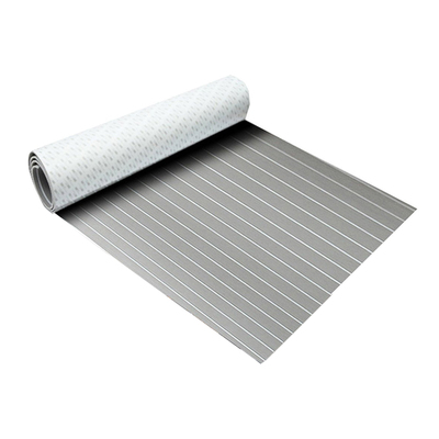 EVA Foam deck pad Faux Teak Sheet Boat Yacht Synthetic Teak Decking Grey With White Lines