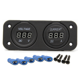 12V Voltmeter/Ammeter Combination Panel for car boat