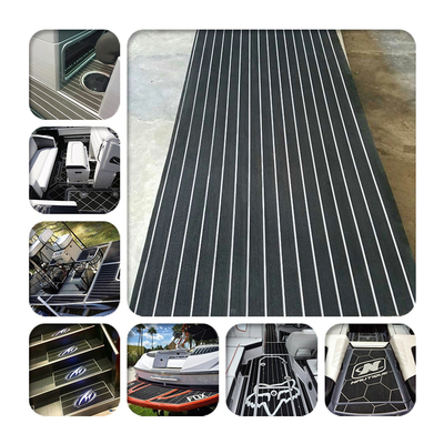 Black white stripe deck pad