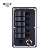 5P Aluminum Vertical Fuse switch panel with Cigarette socket