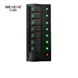 8P Green Led switch panel
