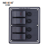4P Aluminum Vertical Fuse switch panel
