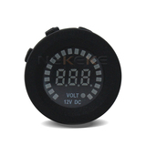 Voltmeter  socket  Blue LED dc 12v digital voltage tester automotive marine voltmeter