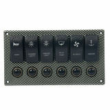 6P Laser Etched switch panel with fuse
