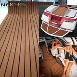 Light brown+black stripe deck pad