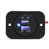 High qulity Dual USB Power socket For Car Automotive Marine Motorcycle
