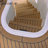 25 Meter Roll 200mm Wide Synthetic Teak Decking With Black Caulking Line Stripe