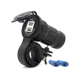 Motorcycle Car Boat Dual USB Power Charger Port Socket