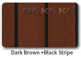 Dark brown+black stripe deck pad