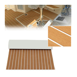 brown+white stripe deck pad