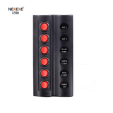 6P Round button switch panel with fuse