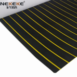 EVA Deck Sheet Black + Yellow Stripe