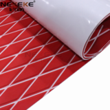 EVA Deck Sheet Red+ White Stripe + diamond in surface