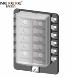 12 Way Blade Fuse Box Holder with Red LED Warming Light